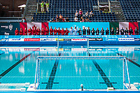 ITA (white cap) -  CAN (blue cap)<br /> Water Polo<br /> Day03  16/07/2017 <br /> XVII FINA World Championships Aquatics<br /> Alfred Hajos Complex Margaret Island  <br /> Budapest Hungary July 15th - 30th 2017 <br /> Photo @ Deepbluemedia/Insidefoto