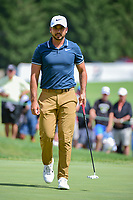 Jason Day (AUS) after sinking his putt on 9 during Saturday's round 3 of the World Golf Championships - Bridgestone Invitational, at the Firestone Country Club, Akron, Ohio. 8/5/2017.<br /> Picture: Golffile | Ken Murray<br /> <br /> <br /> All photo usage must carry mandatory copyright credit (&copy; Golffile | Ken Murray)