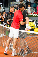 Serbian Novak Djokovic and Scotch Andy Murray during  TPA Finals Mutua Madrid Open Tennis 2016 in Madrid, May 08, 2016. (ALTERPHOTOS/BorjaB.Hojas) /NortePhoto.com