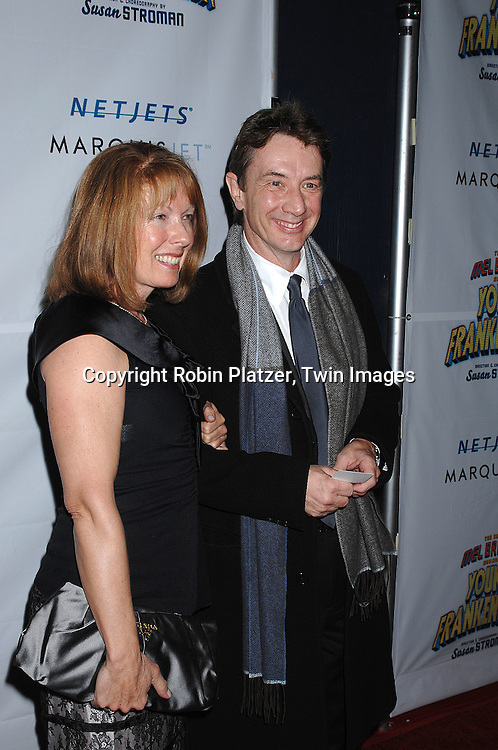 """Nancy and Martin Short..arriving at The Broadway Opening Night of The New Mel Brooks Musical """"Young Frankenstein"""" on November 8, 2007 at The Hilton Theatre in New York. ..Robin Platzer, Twin Images....212-935-0770"""
