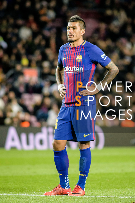 Paulinho Maciel of FC Barcelona during the La Liga 2017-18 match between FC Barcelona and Deportivo La Coruna at Camp Nou Stadium on 17 December 2017 in Barcelona, Spain. Photo by Vicens Gimenez / Power Sport Images