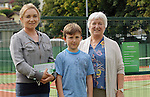 Pictured at the official opening of the upgraded courts at Westport Tennis Club were Anna and Jamie Byrne and  Jenny Bernard.<br />