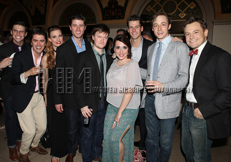 Members of the Company.attending the reception for the final performance of the New York City Center ENCORES! Production of 'Gentlemen Prefers Blondes' at City Center in New York City on 5/13/2012.