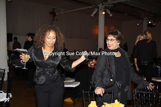 """Law & Order SVU's As The World Turns' Tamara Tunie and her mom at The Fourteenth Annual Hearts of Gold Gala """"Hooray for Hollywood!"""" - with its mission to foster sustainable change in lifestyle and levels of self-sufficiency for homeless mothers and their children on October 28, 2010 at the Metropolitan Pavillion, New York City, New York. (Photo by Sue Coflin/Max Photos)"""