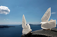 sculptures overlooking the Aegean Sea