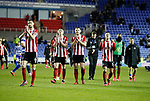 The players applaud the fans during the FA Cup match at the Madejski Stadium, Reading. Picture date: 3rd March 2020. Picture credit should read: Simon Bellis/Sportimage