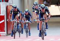 Team Movistar during Special Crono Stage.August 17,2012. (ALTERPHOTOS/Alfaqui/Paula Otero) /NortePhoto.com<br /> <br /> **SOLO*VENTA*EN*MEXICO**<br /> **CREDITO*OBLIGATORIO** <br /> *No*Venta*A*Terceros*<br /> *No*Sale*So*third*<br /> *** No Se Permite Hacer Archivo**<br /> *No*Sale*So*third*