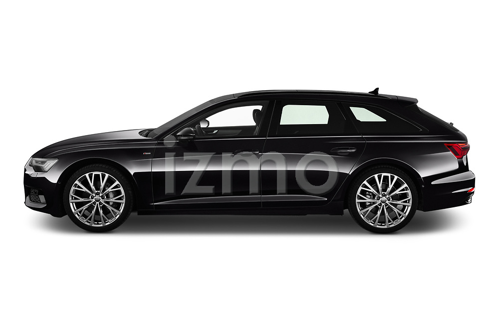 Car driver side profile view of a 2019 Audi A6 Avant Sport 5 Door Wagon