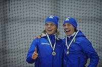 SCHAATSEN: GRONINGEN: Sportcentrum Kardinge, 02-02-2013, Seizoen 2012-2013, Gruno Bokaal, Koen Verweij, Renz Rotteveel, ©foto Martin de Jong