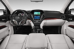 Stock photo of straight dashboard view of 2014-2016 Acura MDX Technology 5 Door SUV