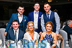 Pictured at the Kerins O'Rahilly's social held at Fels Point Hotel, Tralee on Saturday night last were front l-r: Shane Brosnan Aisling O'Rourke and Michelle Kissane. Back l-r: Danny Sullivan, Kieran Mahony and Gary Kissane.