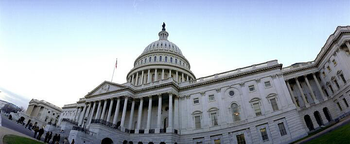 Exterior panoramic view of Capital Building in Washington D.C.  Bob Gathany photo.
