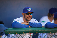 Coach Cordell Hipolito (37) of the Ogden Raptors before the game against the Orem Owlz at Lindquist Field on June 19, 2018 in Ogden, Utah. The Raptors defeated the Owlz 7-2. (Stephen Smith/Four Seam Images)