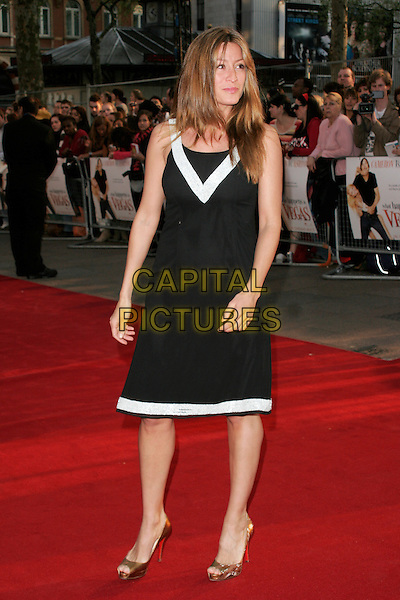 "REBECCA LOOS .World premiere of ""What Happens In Vegas"" held at the Odeon Leicester Square, London, England. .April 22nd 2008 .full length black white trim dress.CAP/AH.©Adam Houghton/Capital Pictures."