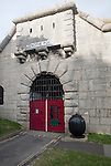 Entrance doorway to Nothe Fort built in 1872 Weymouth, Dorset, England