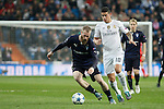 Real Madrid´s James Rodriguez and Malmo´s Jo Inge Berget during 2015/16 Champions League soccer match between Real Madrid and Malmo at Santiago Bernabeu stadium in Madrid, Spain. December 08, 2014. (ALTERPHOTOS/Victor Blanco)