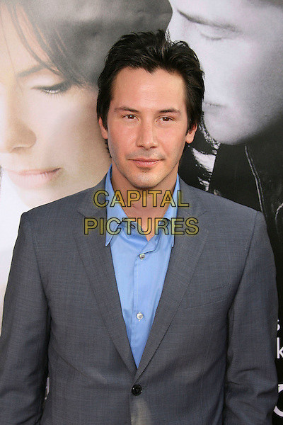 "KEANU REEVES.World Premiere of ""The Lake House "" presented by Warner Brothers held at the Cinerama Dome, Hollywood, California, USA, 13 June 2006..portrait headshot blue shirt.Ref: ADM/ZL.www.capitalpictures.com.sales@capitalpictures.com.©Zach Lipp/AdMedia/Capital Pictures."