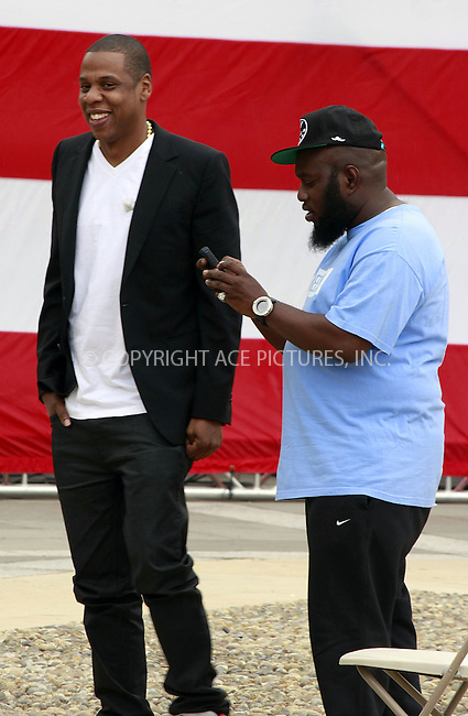 WWW.ACEPIXS.COM . . . . .  ....May 14 2012, Philadelphia....Jay-Z and Freeway (R) announce the Budweiser Made In America Music Festival on May 14 2012 in Philadelphia, PA....Please byline: William T. Wade jr- ACE PICTURES.... *** ***..Ace Pictures, Inc:  ..Philip Vaughan (212) 243-8787 or (646) 769 0430..e-mail: info@acepixs.com..web: http://www.acepixs.com