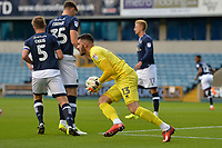 Millwall keeper Tom King gathers a cross during Millwall vs Stevenage, Caraboa Cup Football at The Den on 8th August 2017