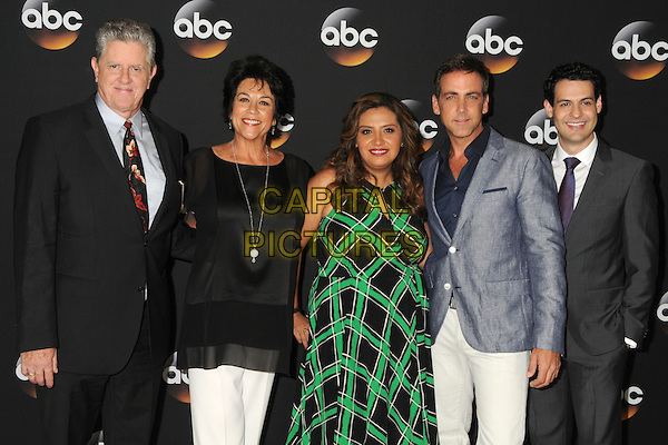 15 July 2014 - Beverly Hills, California - Sam McMurray, Terri Hoyos, Cristela Alonzo, Carlos Ponce. Disney/ABC Television Group Summer Press Tour 2014 held at the Beverly Hilton Hotel. <br /> CAP/ADM/BP<br /> &copy;Byron Purvis/AdMedia/Capital Pictures