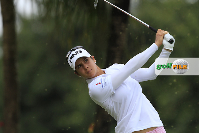 Azahara Munoz (ESP) on the 2nd tee during Round 4 of the HSBC Women's Champions at the Sentosa Golf Club, The Serapong Course in Singapore on Sunday 8th March 2015.<br /> Picture:  Thos Caffrey / www.golffile.ie