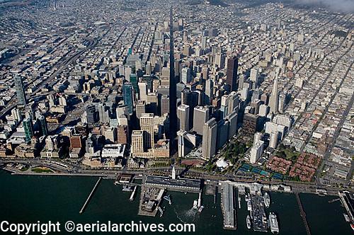aerial photograph north waterfront, Market Street,San Francisco, California