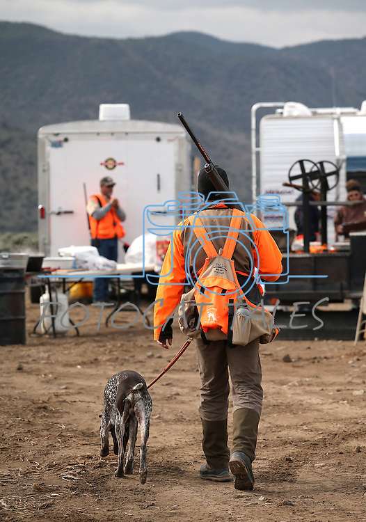 An unidentified competitor heads into the course during the U.S. Bird Dogs Western State Nationals in Mound House, Nev., on Friday, April 24, 2015. <br /> Photo by Cathleen Allison