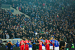 19.12.2017, Veltins-Arena , Gelsenkirchen, GER, DFB Pokal Achtelfinale, FC Schalke 04 vs 1. FC K&ouml;ln<br /> , <br /> <br /> im Bild | pictures shows:<br /> Mannschaftsfoto K&ouml;ln und Schalke, <br /> <br /> Foto &copy; nordphoto / Rauch