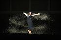 Edinburgh, UK. 23.08.2013. Oper Frankfurt presents BLUEBEARD'S CASTLE, by Bartok,  as part of the Edinburgh International Festival. Robert Hayward as Bluebeard and Anja Ariane Bumgartner as Judith. Photograph © Jane Hobson.