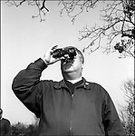 Plane spotter at RAF Fairford on the day of the outbreak of the second  Gulf War  19/3/03.  .He refused to give his name ; being worried about the 'repurcussions'..