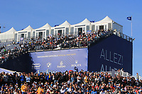 ALLEZ ALLEZ stand during Saturday Foursomes at the Ryder Cup, Le Golf National, Ile-de-France, France. 29/09/2018.<br /> Picture Thos Caffrey / Golffile.ie<br /> <br /> All photo usage must carry mandatory copyright credit (&copy; Golffile | Thos Caffrey)