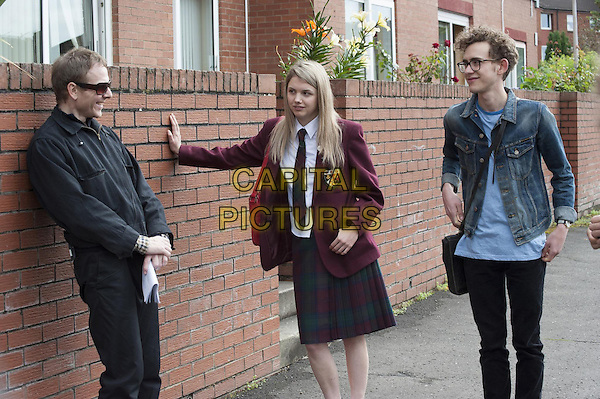 Stuart Murdoch (Director), Hannah Murray, Olly Alexander<br /> on the set of God Help the Girl (2014) <br /> *Filmstill - Editorial Use Only*<br /> CAP/FB<br /> Image supplied by Capital Pictures