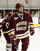 Carl Sneep (BC - 7) - The Merrimack College Warriors defeated the Boston College Eagles 5-3 on Sunday, November 1, 2009, at Lawler Arena in North Andover, Massachusetts splitting the weekend series.
