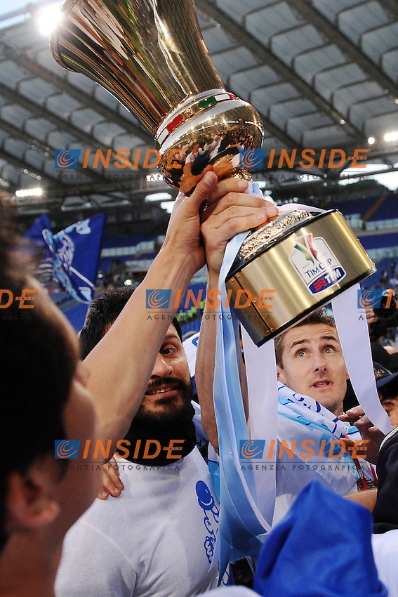 Miroslav Klose Lazio.26/05/2013 Roma.Stadio Olimpico.Football Calcio 2012 / 2013 .Tim Cup Finali di Coppa Italia.Roma vs Lazio.Foto Insidefoto / Antonietta Baldassarre.