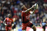 Duane Vermeulen of Toulon looks to catch the ball. European Rugby Champions Cup match, between RC Toulon and Bath Rugby on December 9, 2017 at the Stade Mayol in Toulon, France. Photo by: Patrick Khachfe / Onside Images