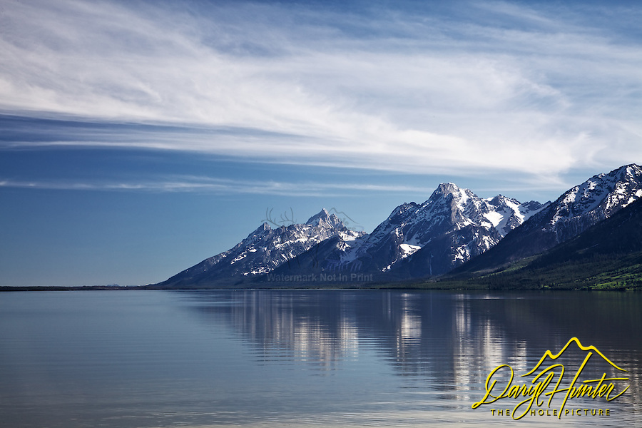 """Jackson Lake Reflection, Grand Teton National Park<br /> <br /> For production prints or stock photos click the Purchase Print/License Photo Button in upper Right; for Fine Art """"Custom Prints"""" contact Daryl - 208-709-3250 or dh@greater-yellowstone.com"""