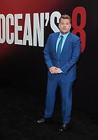 NEW YORK, NY - June 5: James Corden attends 'Ocean's 8' World Premiere at Alice Tully Hall on June 5, 2018 in New York City. <br /> CAP/MPI/JP<br /> &copy;JP/MPI/Capital Pictures