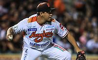 Cesar Vargas pitcher relevo de Naranjeros, durante la apertura de la temporada de beisbol de la Liga Mexicana del Pacifico 2017 2018 con el partido entre Naranjeros vs Yaquis. 11 octubre2017 . <br /> (Foto: Luis Gutierrez /NortePhoto.com)