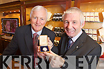 Billy Nolan of Hilsers Jewllers, Tralee examining a watch from 1915 with Maurice O'Sullivan, the watch belonged to Maurice's late Aunt Sr Colombia.