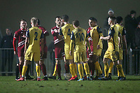 Tempers flare during Chelmsford City vs AFC Hornchurch, BBC Essex Senior Cup Football at Melbourne Park on 4th February 2019