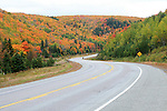Winding road.  Images of Prince Edward Island and Nova Scotia in Canada.