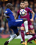 Ngolo Kante of Chelsea during the premier league match at the Stamford Bridge stadium, London. Picture date 30th September 2017. Picture credit should read: Robin Parker/Sportimage