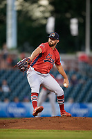 Peoria Chiefs pitcher Jake Dahlberg (13) delivers a pitch during a game against the Bowling Green Hot Rods on September 15, 2018 at Bowling Green Ballpark in Bowling Green, Kentucky.  Bowling Green defeated Peoria 6-1.  (Mike Janes/Four Seam Images)