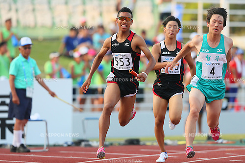 Abdul Hakim Sani Brown, JULY 29, 2015 - Athletics : 2015 All-Japan Inter High School Championships, Men's 4100mR at Kimiidera Athletic Stadium, Wakayama, Japan. (Photo by YUTAKA/AFLO SPORT)