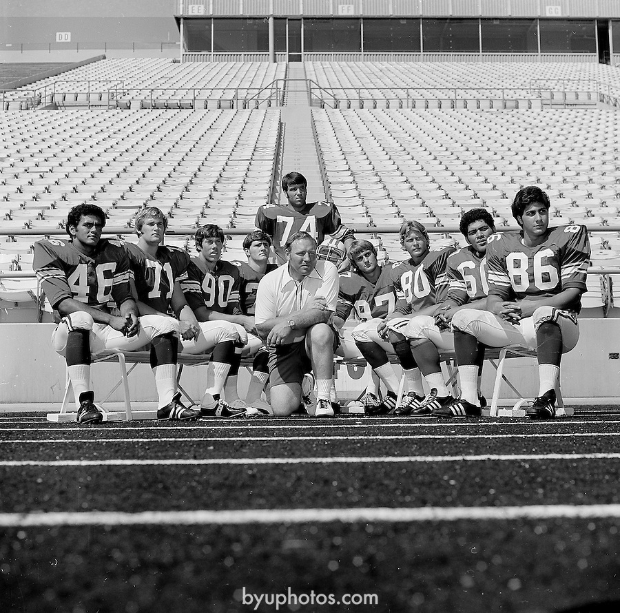 FTB 60C-12<br /> <br /> Football Press Day. Coach Tom Ramage.<br /> <br /> August 23, 1973<br /> <br /> Photo by Mark A. Philbrick/BYU<br /> <br /> Copyright BYU Photo 2009<br /> All Rights Reserved<br /> photo@byu.edu  <br /> (801)422-7322