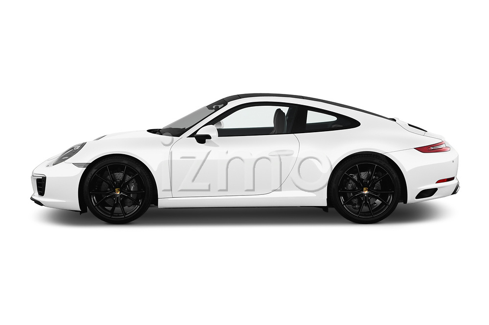 Car driver side profile view of a 2017 Porsche 911 Carrera 2 Door Coupe