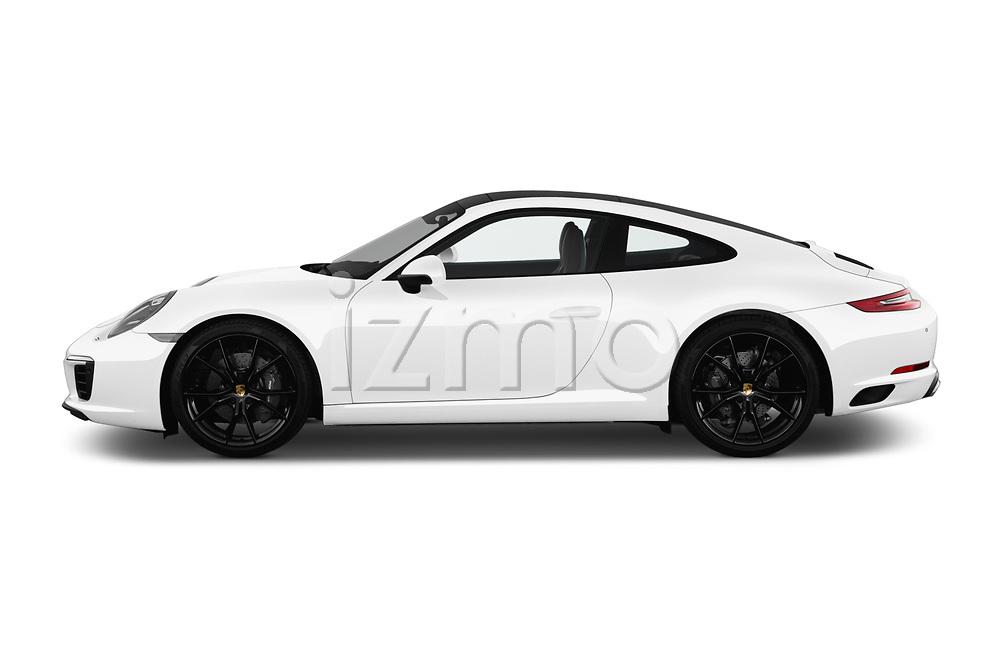 Car driver side profile view of a 2018 Porsche 911 Carrera 2 Door Coupe