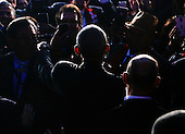 US President Barack Obama greets guests after speaking at the 2016 White House Tribal Nations Conference at the Andrew W. Mellon Auditorium, September 26, 2016, Washington, DC.  <br /> The conference provides tribal leaders with opportunity to interact directly with federal government officials and members of the White House Council on Native American Affairs.<br /> Credit: Aude Guerrucci / Pool via CNP