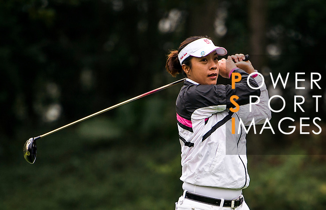 Huei-Ju Shih of Chinese Taipei in action during the Hyundai China Ladies Open 2014 on December 12 2014 at Mission Hills Shenzhen, in Shenzhen, China. Photo by Li Man Yuen / Power Sport Images