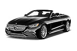 2017 Mercedes Benz S-Class S65-AMG 2 Door Convertible Angular Front stock photos of front three quarter view
